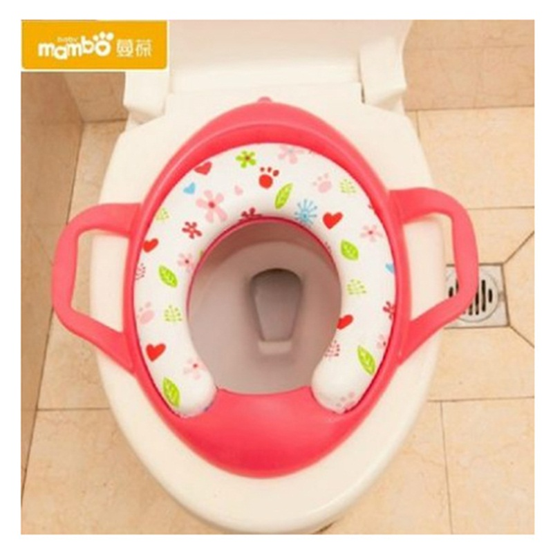 Eco-friendly Baby Potties Soft Toilet Training Seat Children Trainer With Handle Potty Toilet Pad Pedestal For Kids WC Assistant
