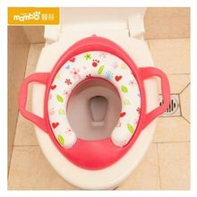 Eco-friendly Baby Potties Soft Toilet Training Seat Children Trainer with Handle Potty Toilet Pad Pedestal for Kids WC Assistant(China)