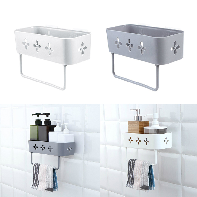 Bathroom Wall Storage Rack Organizer