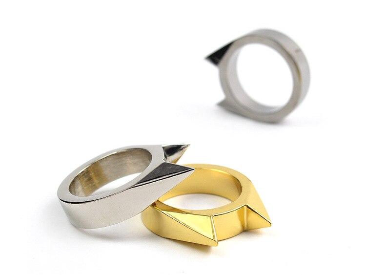 Мода кошачьими ушками самообороны палец кольцо кулон брелок многофункциональный открытый инструмент выживания EDC тактический Товары для с...
