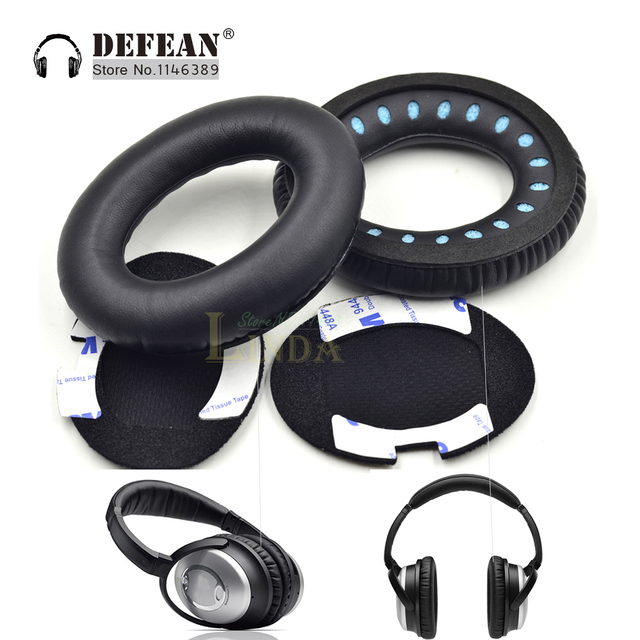 Us 5 98 Replacement Ear Pads For Bose Headphones Protein Leather Ear Cushions For Bose Quietcomfort 2 Qc25 Ae2 Qc2 Qc15 Audifonos In Earphone
