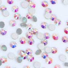 1440pcs Flat Back Nail Rhinestones Colorful 3D Nail Decoration Manicure Nail Art Decorations Body Art Nail Polish Gel 1 Bag