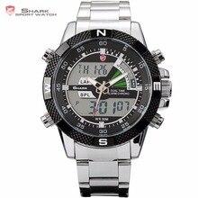 Steel Porbeagle SHARK Sport Watch Luxury Black Digital Male Quartz Fashion LCD D