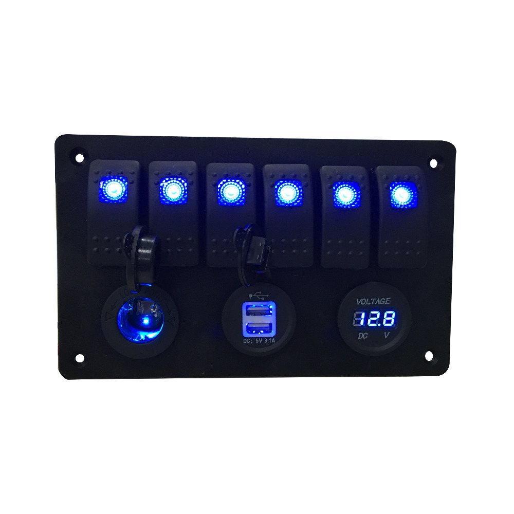 IZTOSS Digital voltmeter + 12V strømuttak + Dobbel USB strømadapter - Bildeler