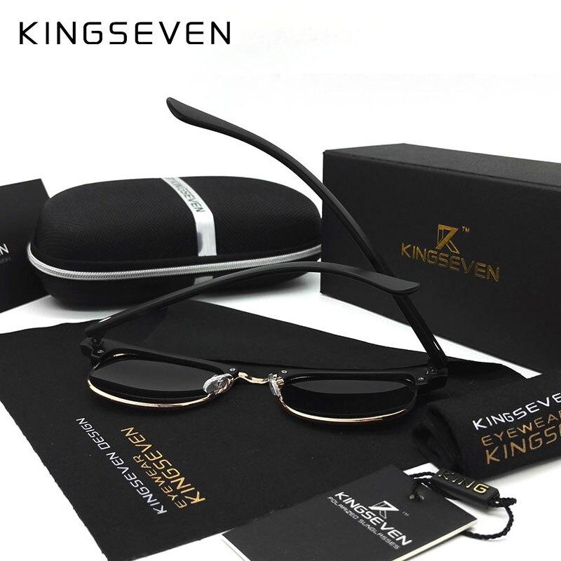 7795ca0c43a06 KINGSEVEN 2016 Novos Óculos Polarizados Óculos De Sol Dos Homens ...