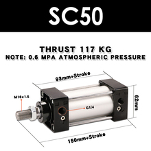 SC50 standard cylinder long stroke compression air compressor with pull rod sc50-x25x50x75x150x250x300s magnetic SC50X150S