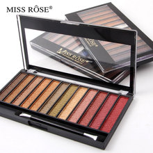 Miss rose 12 colors shimmer&matte eyeshadow palette Easy to Wear Glitter professional beauty eye shadow pallete maquiagem makeup