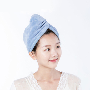 Image 2 - Xiaomi Mijia Women Bathroom Super Absorbent Quick drying Polyester with Cotton Bath Towel Hair Dry Cap Salon Towel 24x64cm