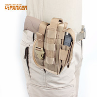 Hunting Molle Gun Holster Tactical Nylon Pistol Bag With Mag Pouch For Right Handed Shooters Fit