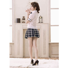 Sexy costumes students clothing set with necktie women sexy lingerie hot girl short dresses school girl uniform