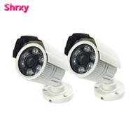 2pcs Surveillance Cheapest Anolog Plastic Bullet Security Camera HD 1200TVL 6 Array LEDs IR CUT Switch