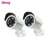 2pcs Surveillance Cheapest Anolog Plastic Bullet Security Camera HD 1200TVL 6 Array LEDs IR CUT Switch