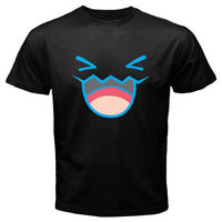 POKEMON STARTER WOBBUFFET Smile Face Cartoon Men S Black T Shirt Size S To 2XL T