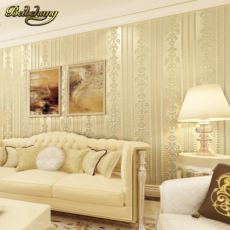 beibehang papel de parede Continental cozy bedroom luxury vertical stripes wallpaper the living room TV backdrop stereoscopic 3D beibehang customize universe star large mural bedroom living room tv background wallpaper minimalist 3d sky ceiling wallpaper