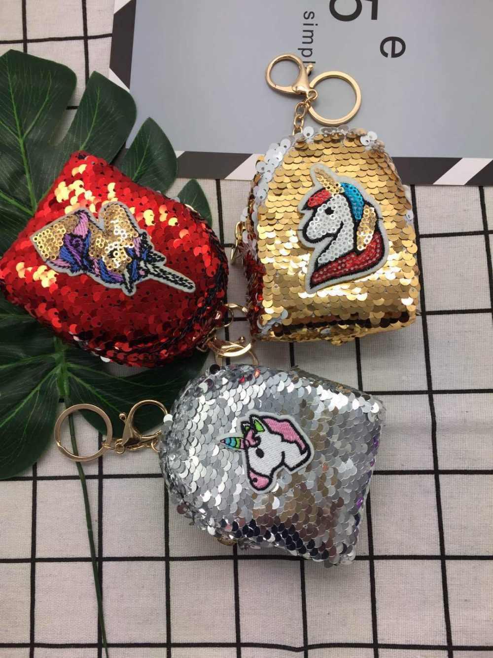 Горячая Распродажа, сумки для монет с пайетками в виде единорога, сумки для женщин 2018, сумки для денег, женские кошельки для девочек, милые детские кошельки kawaii, кошелек, держатель для карт