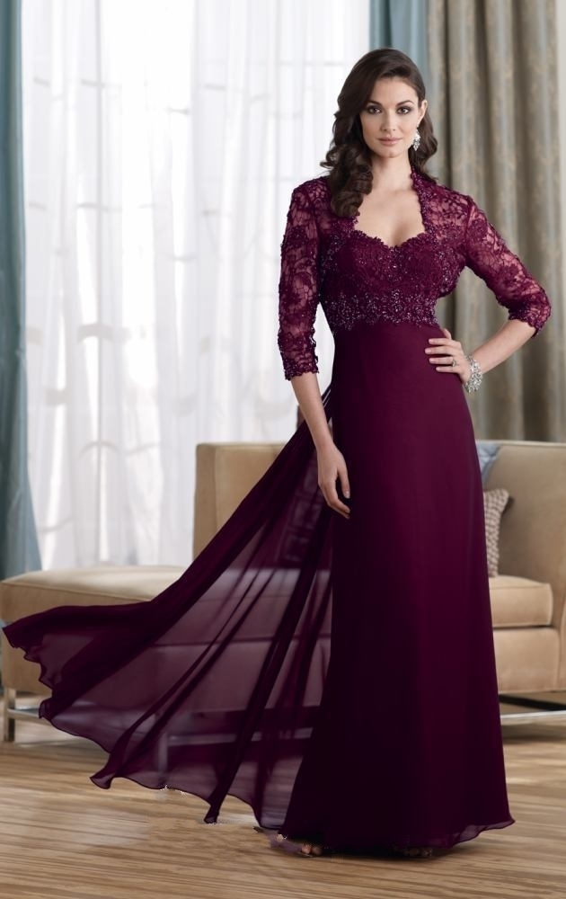 Aliexpress.com : Buy New Free jacket 3/4 Sleeve Chiffon prom ...
