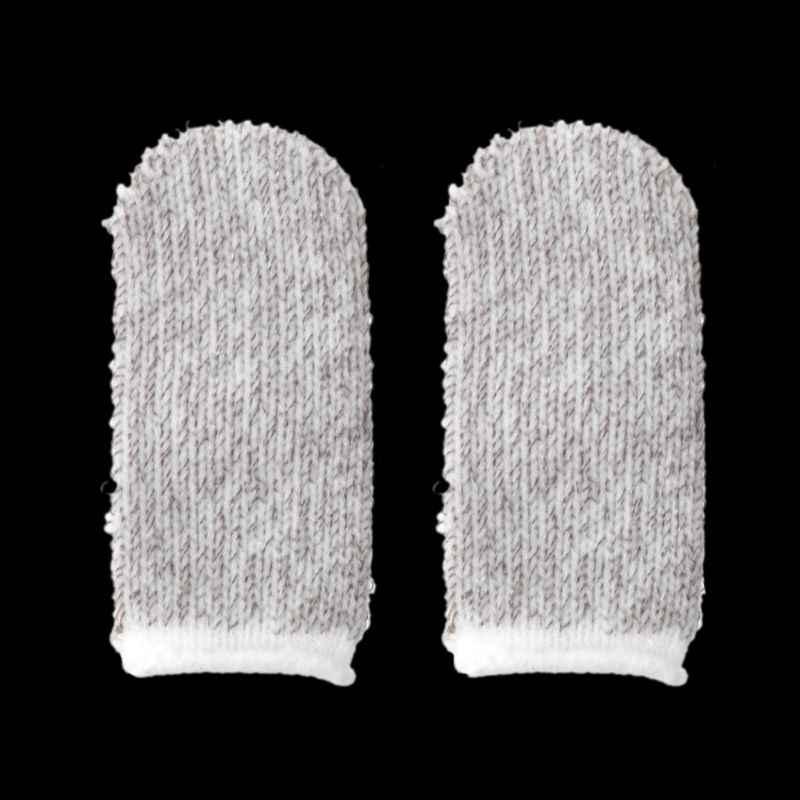 1 par Mini transpirable Sweatproof Mobile Finger Stall Ultra Thin Finger Cots controlador de juegos para iPhone Android piezas de herramientas de juego