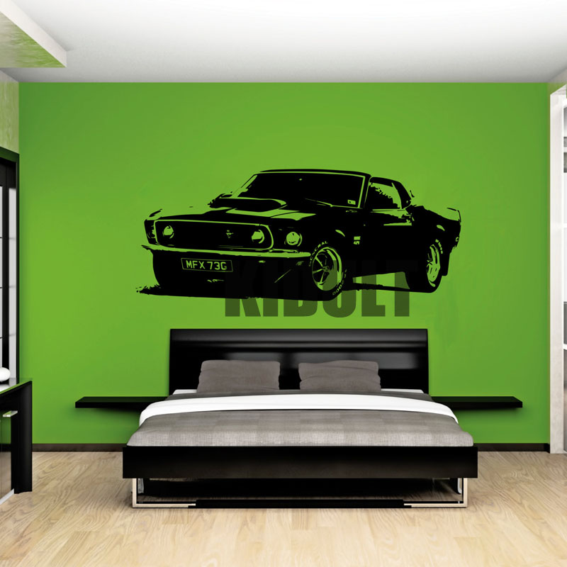 cars wall stickers personalized fashion creative bedroom automobile