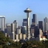 Seattle city skyline and downtown financial building  King County  Washington State  USA 2010 Poster Print (15 x 5)