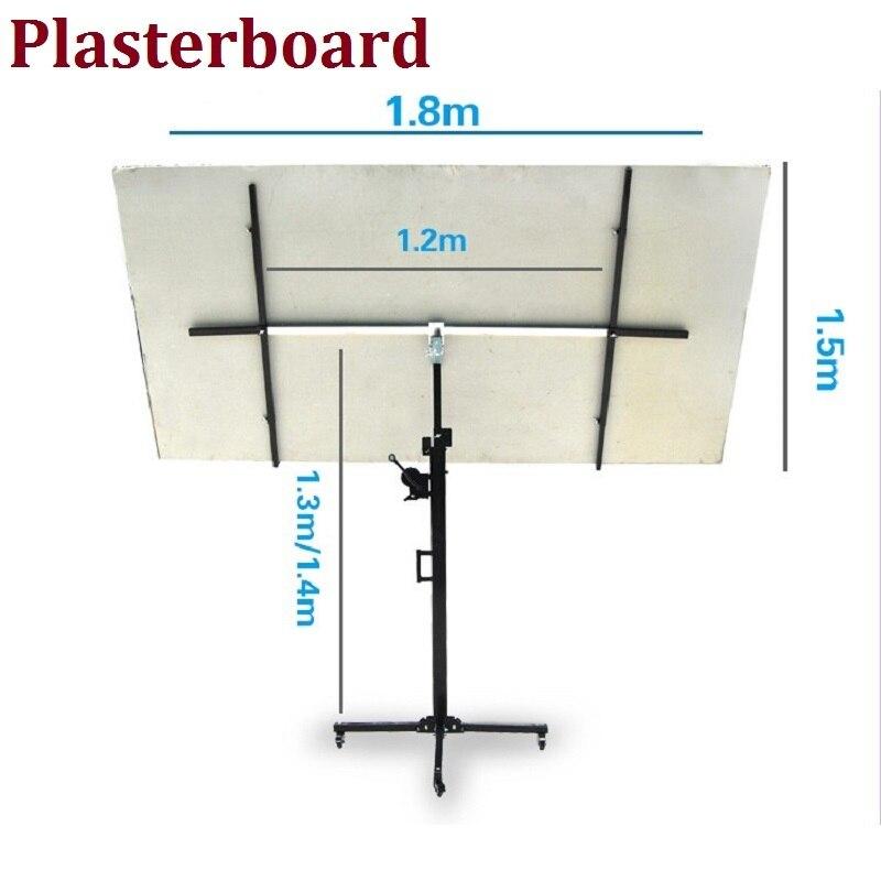 Cloisons sèches et palan panneau jusqu'à la plate-forme de levage machine à bois outils ascenseur plaques de plâtre au plafond