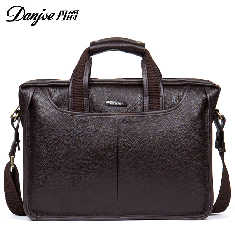 DANJUE Genuine Leather Handbag Male Bag Men Business Crossbody Bag Classic Men Vertical Luxury Messenger Bag Large Capacity augus 100% genuine leather laptop bag fashional and classic crossbody bags leather for men large capacity leather bag 7185a