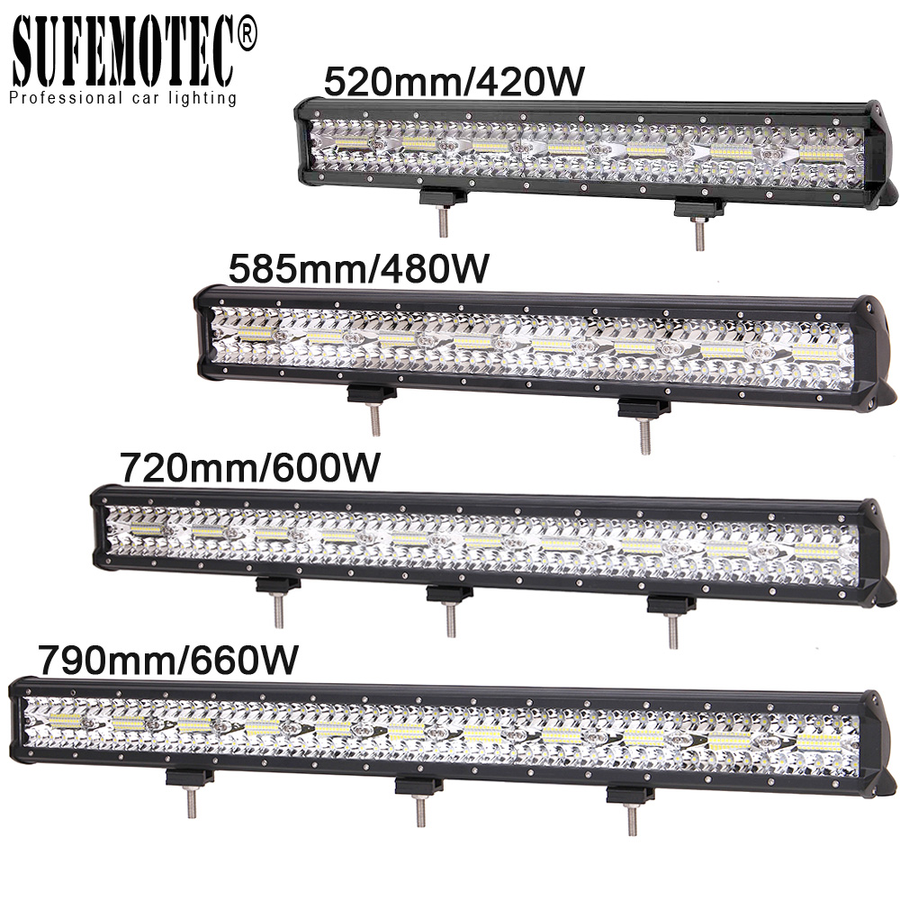 20 23 28 Inch Led Work Bar Light for Tractor Boat OffRoad 4WD 4x4 Tractor Truck