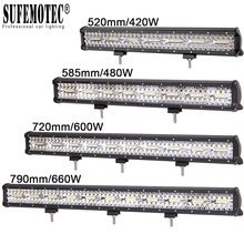 цена на 20 23 28 Inch Led Work Bar Light for Tractor Boat OffRoad 4WD 4x4 Tractor Truck SUV ATV Driving Motorcycle Car Work Barra Lights