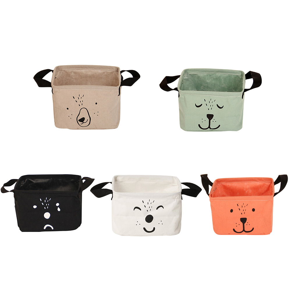Foldable Resistant Clothes Storage Basket Portable Cartoon Lovely Clothes Kids Toy Storage Baskets Home Box with Two Handle