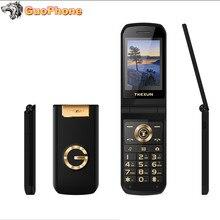TKEXUN G3 G9000 teléfono con tapa para mujer con cámara tarjeta Sim Dual pantalla táctil de 2,4 pulgadas teléfono móvil de lujo