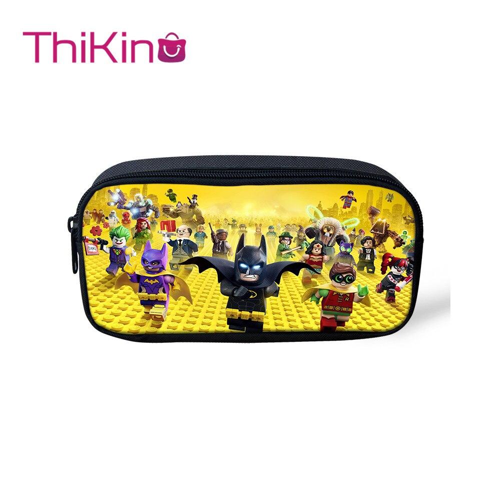Thikin Game Ninjago Casual Pencil Bags Pen Bag For Girls  Pen Case Student School Supplies Storage HandBags Pen Purses For Kids