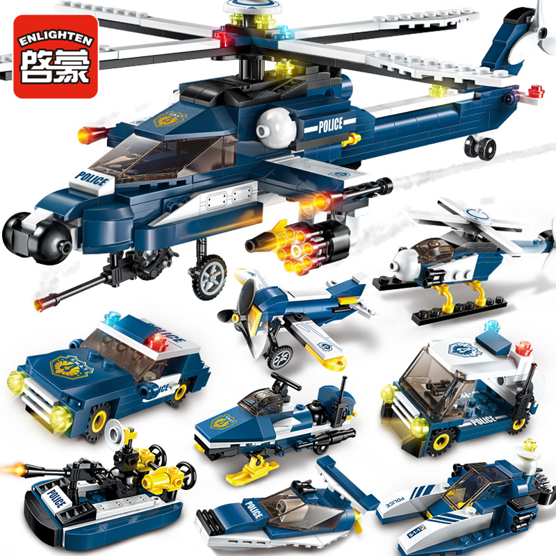 1801 381pcs Aircraft Constructor Model Kit Blocks Compatible LEGO Bricks Toys For Boys Girls Children Modeling