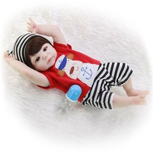 Realistic vinyl skin Baby Dolls Silicone boy for girls toy Alive bebes Reborn Baby Doll 55 cm For Children Gifts Non-toxic goy fashion 23 inch realistic reborn baby doll full silicone vinyl 57 cm curly hair girl baby doll toy for kids children s day gifts
