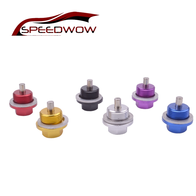 SPEEDWOW Free Shipping Racing Oil Pan <font><b>M20X1.5</b></font> Engine Magnetic Oil Drain Plug Bolt Nut Drain Oil Sump Nut Plug For SBR image