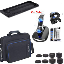 PS4 Gaming System bag Travel Carry Case+Charger Dock Station+Dust Proof Kit+Vertical Stand For PlayStation 4 PS4 Console gifts