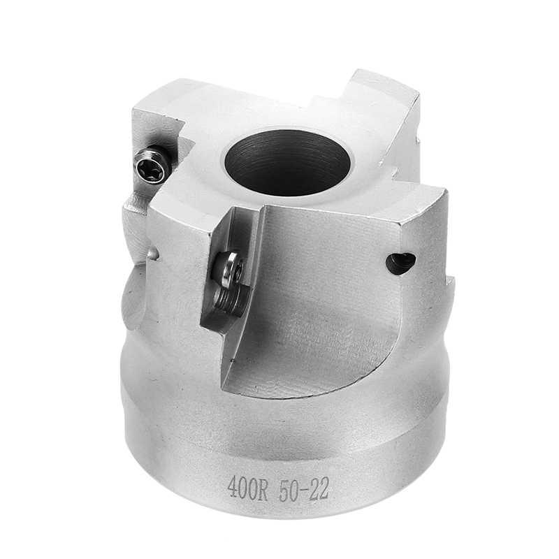 DANIU 1 cái R8 FMB22 400R 50 mét Mặt End Mill Cutter + 4 cái Màu Xanh-nano APMT1604 Carbide chèn + T15 wrench Set