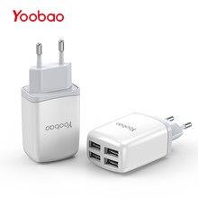 fdff4853588 Yoobao cargador de teléfono móvil usb 4 Enchufe europeo adaptador 2.1a  carga rápida para el iPhone 7 6 5 para Samsung para xiao .