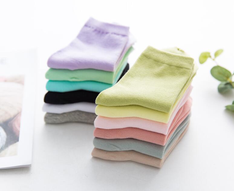 NOUVEAU 2016 chaussettes pour femmes Crew décontracté chaussettes en coton doux 9-11middle chaussettes FL501-1-5