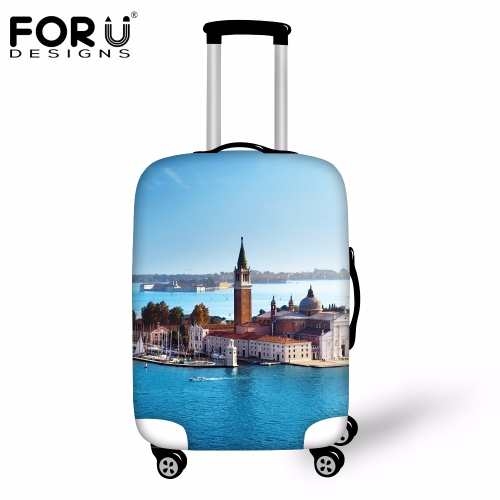 FORUDESIGNS Travel On Road Travel Accessories Luggage Cover Apply To 18-30 Inch Suitcase Waterproof Dust Rain Cover Case Cover
