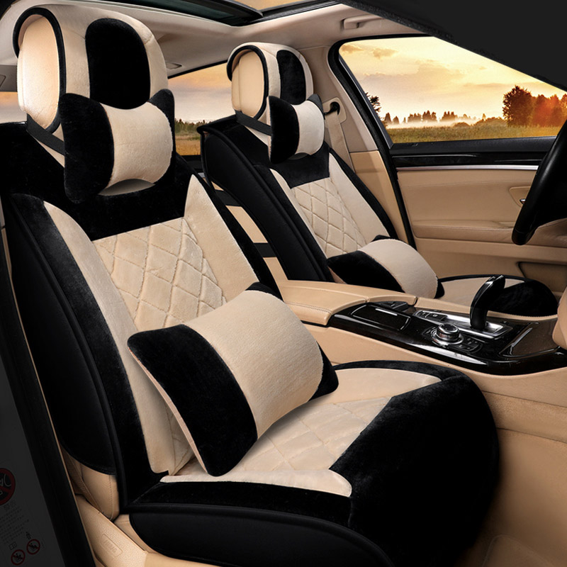 Winter Plush Car Seat Cover Cushion For Cadillac ATS CTS XTS SRX SLS Escalade Series Car pad,auto seat cushions Free Shipping