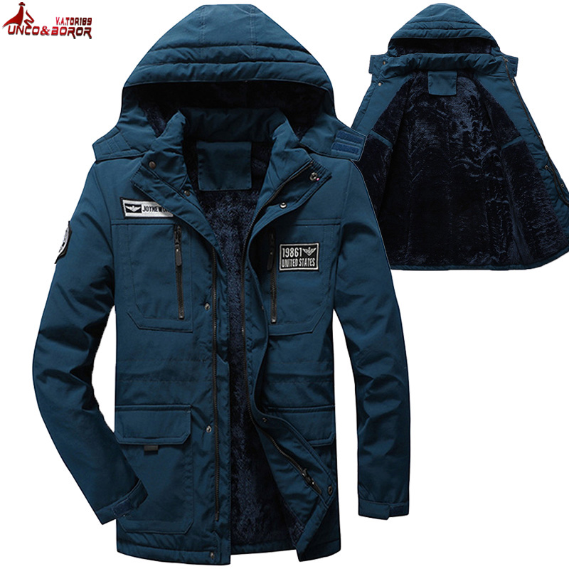Brand Winter Jacket Men Outwear Cotton Military Army Coat Fitness Ski Snow Parkas Overcoat Male Multi-pocket Fur Hooded Clothes