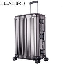 100% All Aluminium alloy Luggage Hardside Rolling Trolley travel Suitcase 20 Carry on 25 29inch Checked