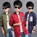 2016 boys child autumn new models 1987 explosion models long coat 3 color options campus clothes casual jacket Children's jacket
