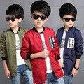 2016 meninos criança outono novos modelos 1987 explosão modelos casaco longo 3 cores opções campus roupas jaqueta casual infantil jaqueta