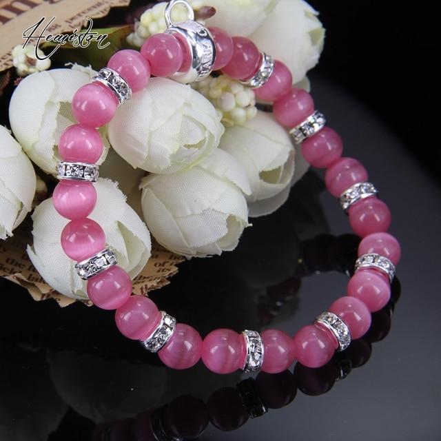 Купить браслет из бусин с опалом thomas rose браслет стразы фирменной