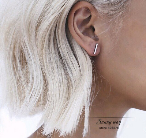 Free Shipping Brief Stick Studs Earrings Wholesale