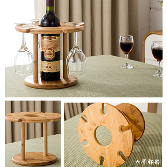 High Quality Fashion Bar Red Wine Rack Wooden Wine Bottle Holder Glass  Stemware Rack Storage Organizer