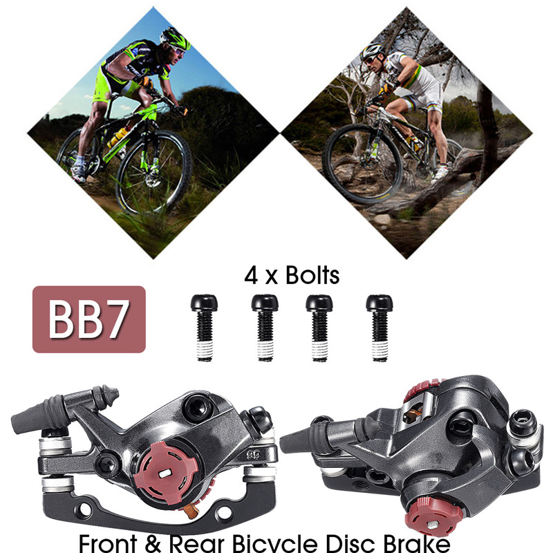 Bike Disc Brake Calipers AVID BB7 Front Rear MTB Disc Brake 1Pair Brake Set Mountain Bicycle Mechanical Disc Brakes Caliper aluminum mountain road bicycle disc brakes w rotors black front rear