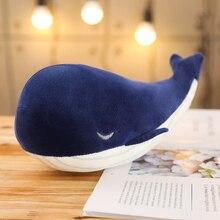 1 adet 25CM karikatür süper yumuşak peluş oyuncak deniz hayvan büyük mavi balina yumuşak oyuncak doldurulmuş hayvan balık güzel çocuk erkek doğum günü hediyesi