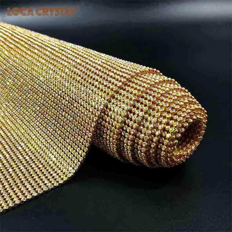 Hot Fix 45 120cm Fashion Gold Color Metal Aluminum