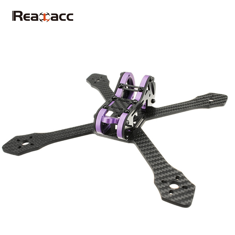 Realacc Purple215 215mm 4mm Arm Thickness Carbon Fiber Frame Kit for Racer Racing RC Drones FPV Quadcopter Spare Parts Accessory